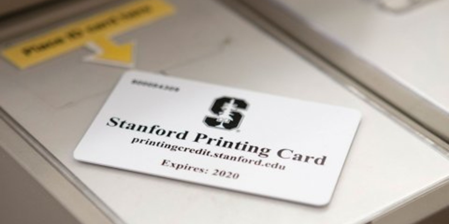 Photo of a print card